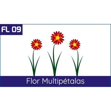 Flor multipetalas feita na Fit LAser