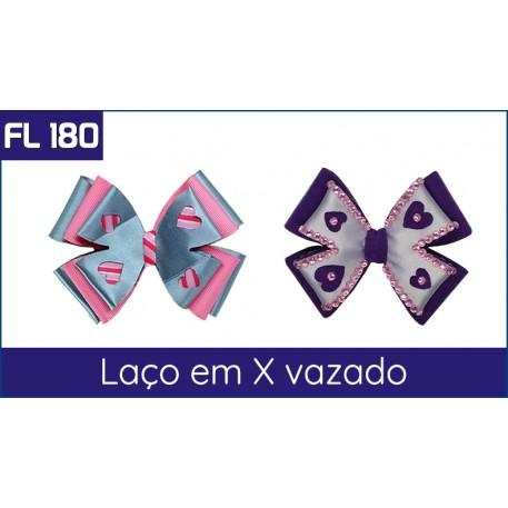 Cartela FL 180 - Laço em X vazado