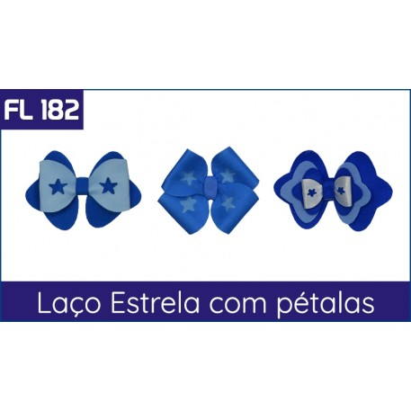 FL 182 - Laço Estrela com Pétalas