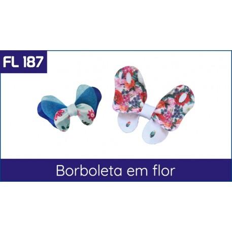 Cartela FL 187 - Borboleta em Laço
