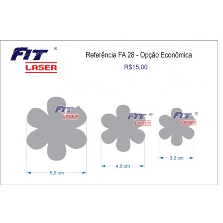 FA 28 - Flor 6 pétalas