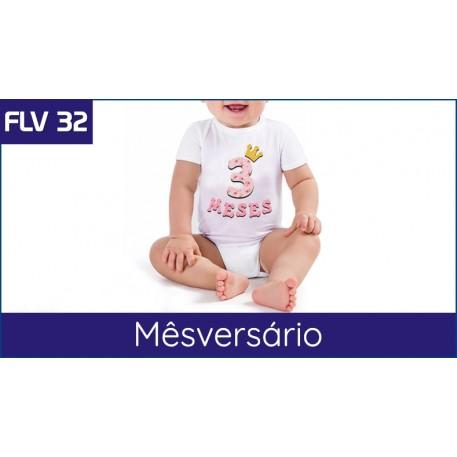 FLV 32 - Letras e números para Mesversario