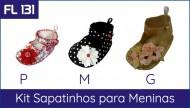 Promoção Sapatinhos Menina (FL 131 P + M + G)