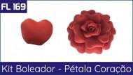 FL 169 - Pétalas Boleadas formato de Coração