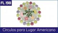 Cartela FL 198 - Jogo Americano