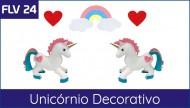 FLV 24 - Unicornios para apliques ou 3D