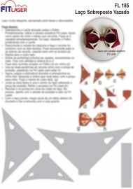 Cartela FL 185 - Laço Sobreposto Vazado