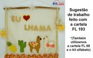 FL 193 - Lhama Cacto e abacaxi