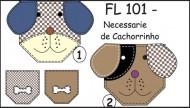 Cartela FL 101 - Necessaire de Cachorrinho