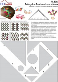 Cartela FL 196 - Triângulo Patchwork