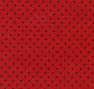 Feltro Estampado Poá Vermelho com Bola Preta REF 162